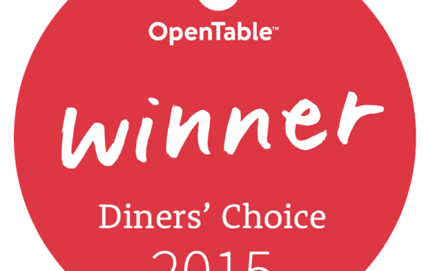 August 2015 OpenTable Dinners' Choce Winner
